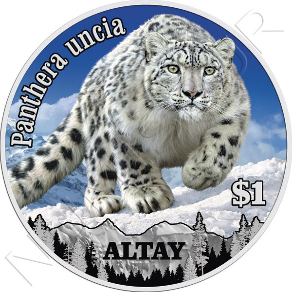 1$ NIUE ISLANDS 2014 - Panthera Uncia
