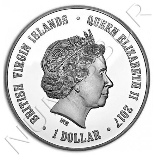 1$ VIRGIN ISLANDS 2017 - Pingüino Humboldt