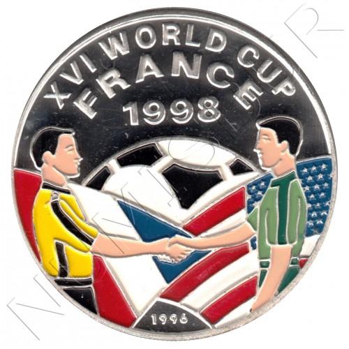 500 afghanis AFGHANISTAN 1996 - Mundial de Futbol Francia 1998