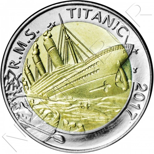 50 francs 2017 BURKINA FASO - TITANIC