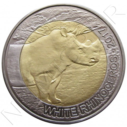 50 francs 2017 BURKINA FASO - Rinoceronte blanco