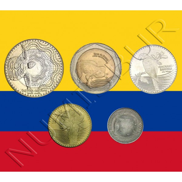 COLOMBIA pesos 2016 - Serie animales