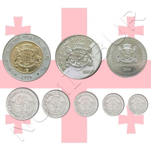 tira GEORGIA 2006/1993 - 8 monedas