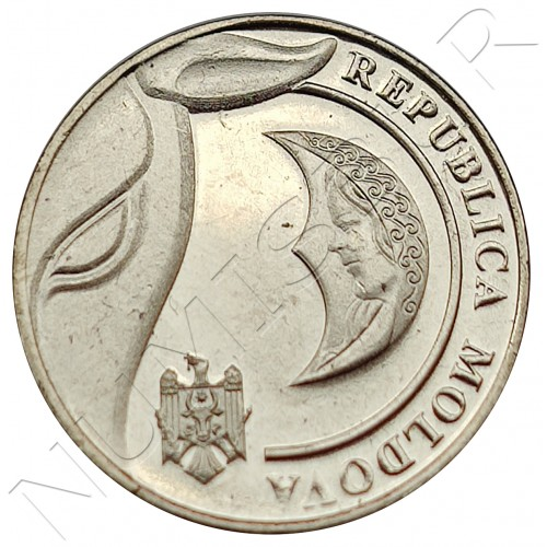 1 leu REPUBLIC OF MOLDOVA 2018
