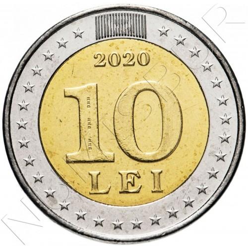 10 lei MOLDOVA 2020 - 30 years of the national flag of Moldova