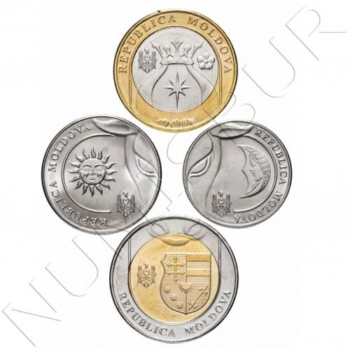 Serie MOLDOVA 2018 / 2020 - 4 coins
