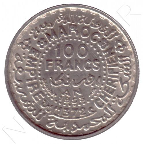 100 francos MARRUECOS 1953 - AH1372