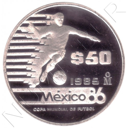 50 pesos MEXICO 1985 - Copa del Mundo de fútbol México