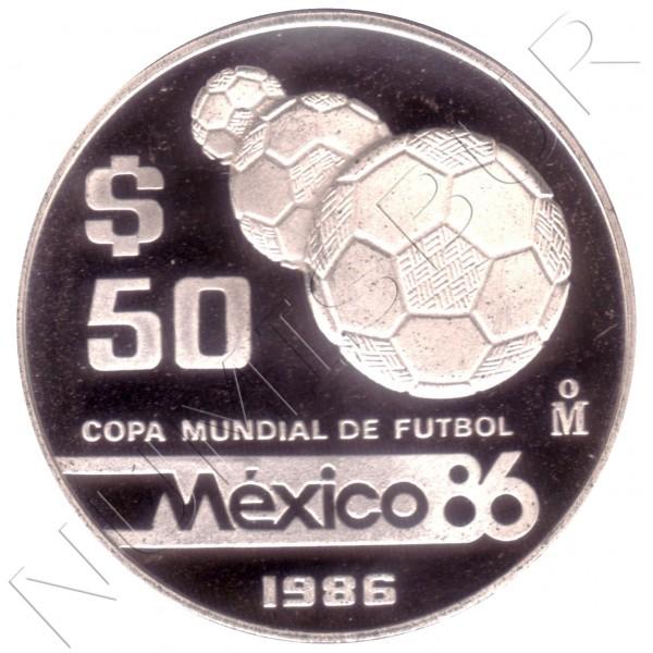 50 pesos MEXICO 1986 - Copa del Mundo de fútbol México Balones