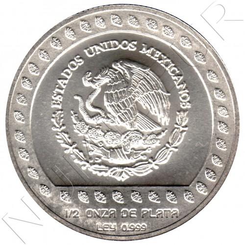 50 pesos MEXICO 1992 - Guerrero Aguila 1/2 onza plata