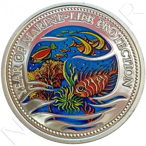 5$ PALAU 1992 - Year of Marine Life Protection