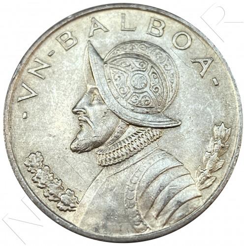 1 balboa PANAMA 1947 - 26.73 g .900 mm silver