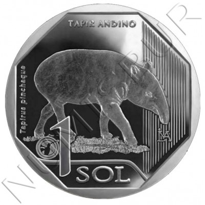 1 sol PERU 2018 - Tapir