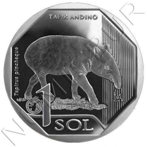 1 sol PERU 2018 - Tapir Andino