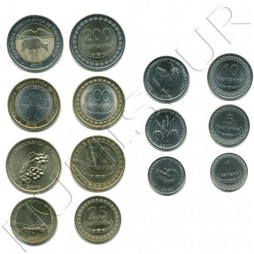 Serie TIMOR LESTE 2003 / 2017 - 7 coins