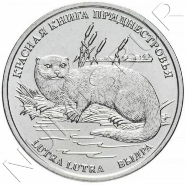 1 rublo TRANSNISTRIA 2018 - Eurasian Otter