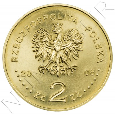 2 zl POLONIA 2008 - 400 aniv de la colonización polaca en América del Norte