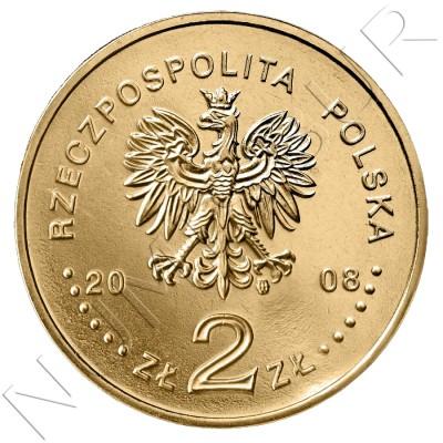 2 zl POLONIA 2008 - 450 años de Correos en Polonia