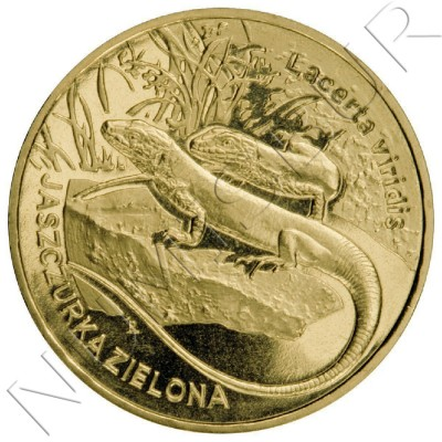 2 zl POLONIA 2009 - Lagarto verde europeo