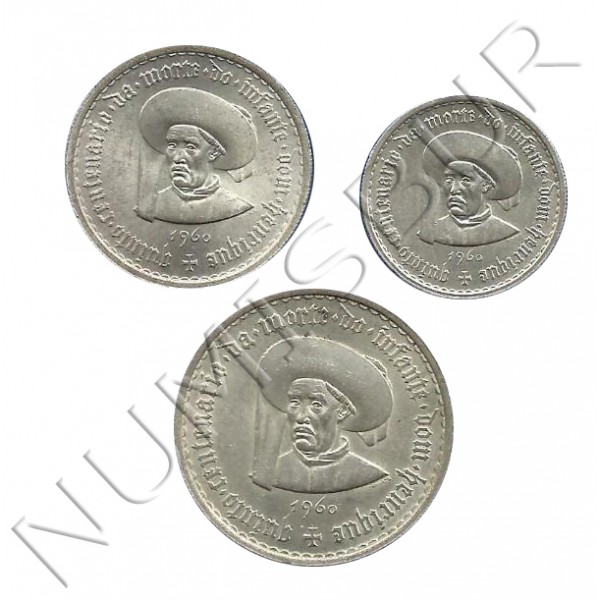 Series 5, 10, 20 PORTUGAL 1960 - Prince Henry the Navigator