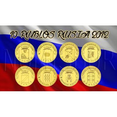 10 rublos RUSIA 2012 - Ciudades de Gloria Militar (COMPLETA)