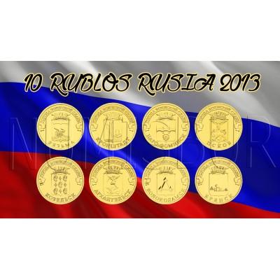 10 rublos RUSIA 2013 - Ciudades de Gloria Militar (COMPLETA)