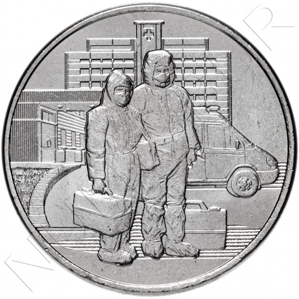 25 rubles RUSSIA 2020 - Selfless work of medical workers