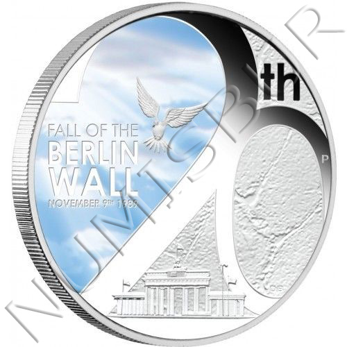 1$ TUVALU 2009 - Fall of the Berlin Wall