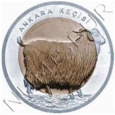 1 lira TURKEY 2015 - Angora goat