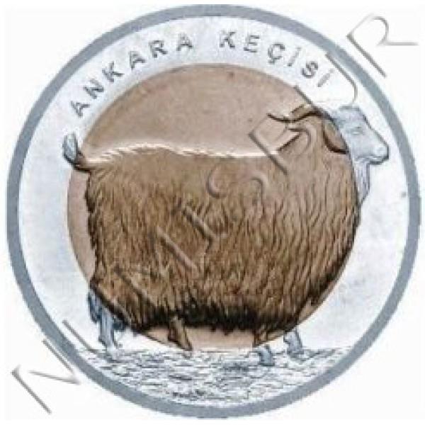1 lira TURQUIA 2015 - Cabra de Angora