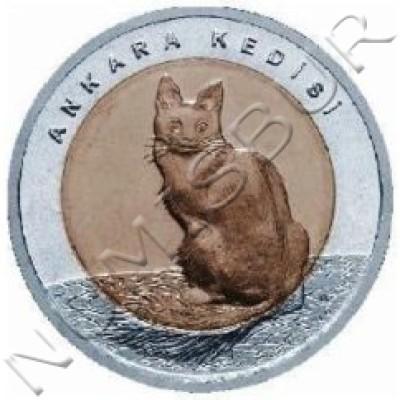 1 lira TURKEY 2015 - Angora cat