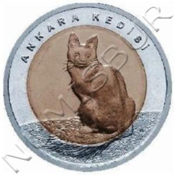 1 lira TURQUIA 2015 - Gato de Angora
