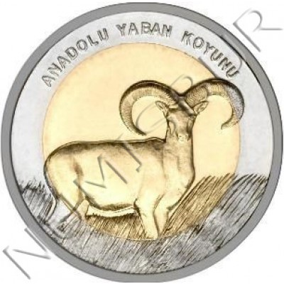 1 lira TURKEY 2015 - Muflon