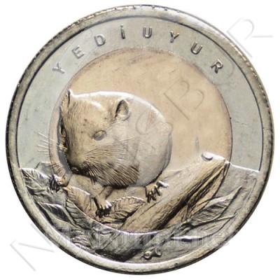 1 lira TURKEY 2016 - Dormouse