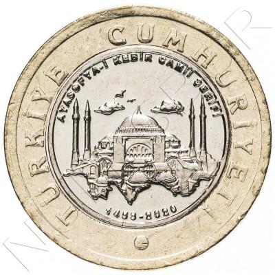 1 lira TURKEY 2020 - Grand Hagia Sophia Mosque