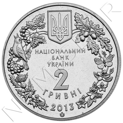2 hryven UKRAINE 2013 -  The Great Bustard