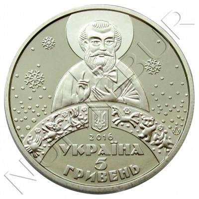 5 hryven UCRANIA 2016 - St. Nicholas day