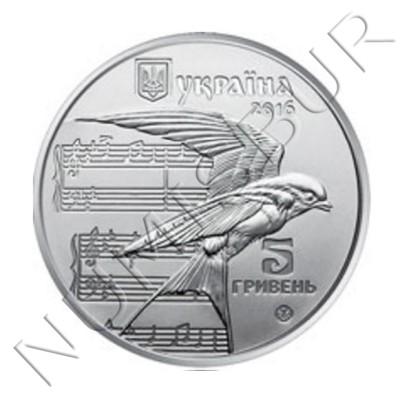 5 hryven UCRANIA 2016 - Shchedryk