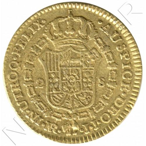 2 escudos SPAIN 1787 - JJ. New Kingdom (Colombia) Carlos III