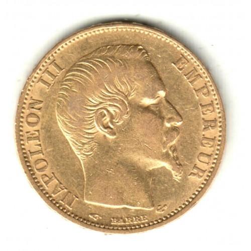 20 francs FRANCE 1858 - Paris (A) Napoleon III