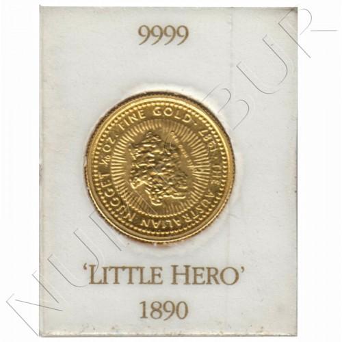15$ AUSTRALIA 1890 - Little Hero 1/10 oz