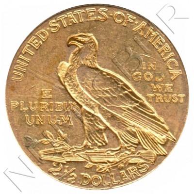 2.5$ USA 1908 - Indian Head / Quarter Eagle