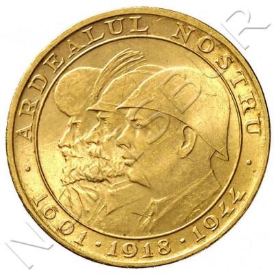 20 lei RUMANIA 1944 - Miguel I 1918 ardealul nostru