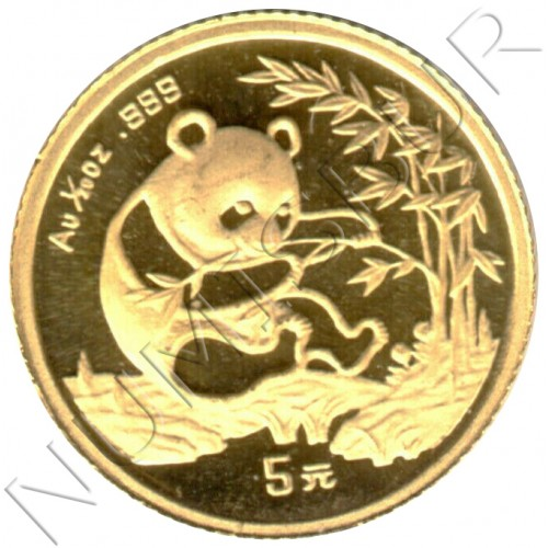 5 yuan CHINA 1994 - PANDA 1/20 oz oro