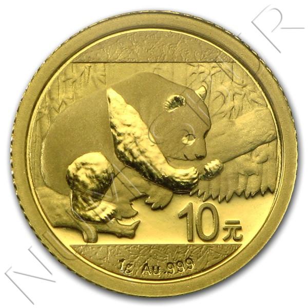 10 yuan CHINA 2016 - Panda 1 gram GOLD