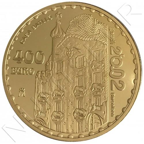 400€ SPAIN 2002 - Gaudi Casa Batlló