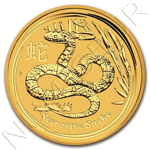 25$ AUSTRALIA 2013 - Serpiente Serie Lunar II 1/4 oz