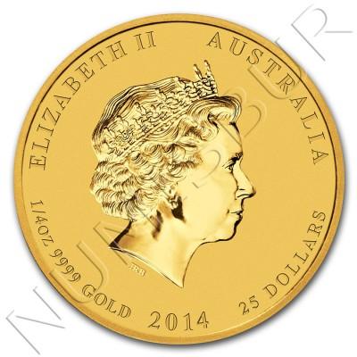 25$ AUSTRALIA 2014 - Horse Lunar Serie II 1/4 oz