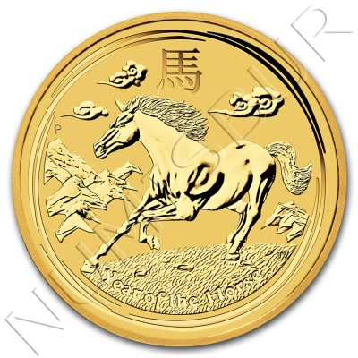 25$ AUSTRALIA 2014 - Caballo Serie Lunar II 1/4 oz