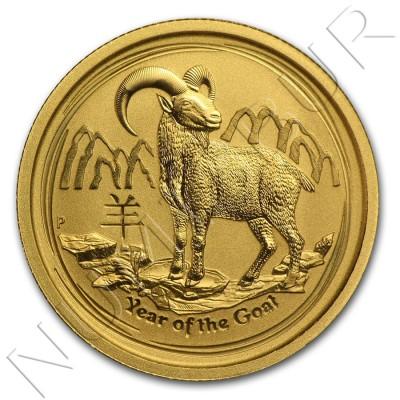 25$ AUSTRALIA 2015 - Goat Lunar Serie II 1/4 oz